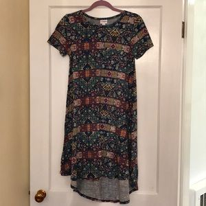 LulaRoe Floral XXS Carly Dress
